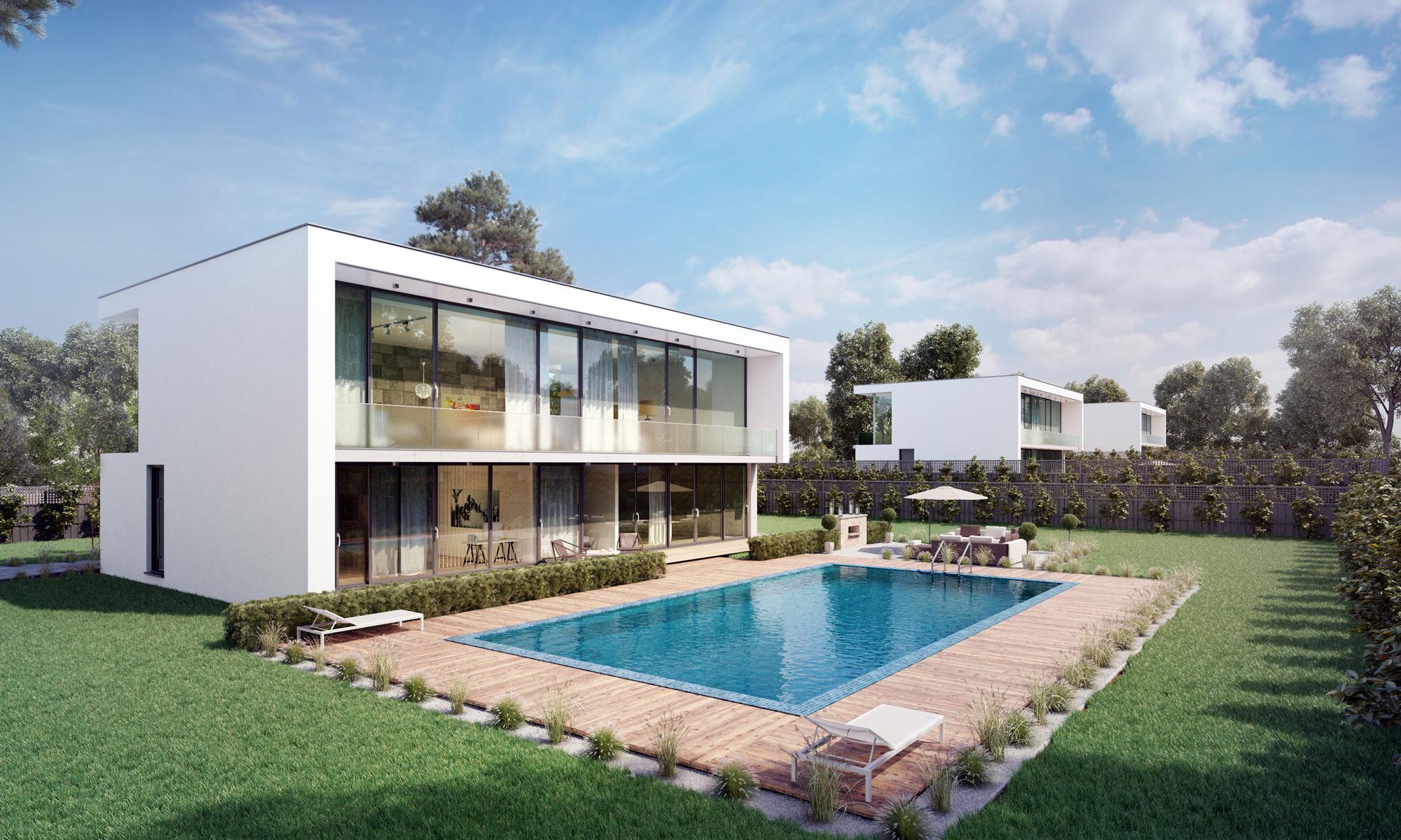 Villa am See Außenansicht